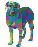 Mosaic dog Stock Photography