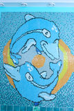Mosaic dolphins Stock Photos