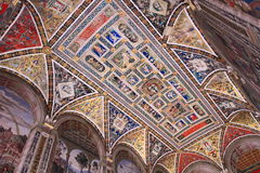 Mosaic  dome of Siena Cathedral Stock Images