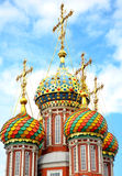 Mosaic domes on Stroganov Church Nizhny Novgorod Royalty Free Stock Images