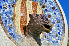 Mosaic Dragon made of broken ceramic Royalty Free Stock Photography
