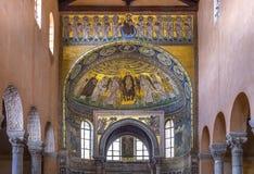 Euphrasian Basilica in Porec, Istria, Croatia. Mosaic in the Euphrasian Basilica, UNESCO World Heritage, Porec, Istria, Croatia, Europe royalty free stock photography