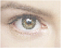 Mosaic  of eye circles Stock Photography