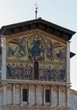 Mosaic on the facade of the Basilica of San Fredia Royalty Free Stock Photography
