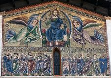 Mosaic on the facade of the Basilica of San Frediano Stock Photos