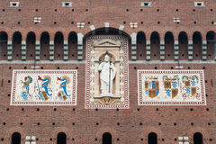 Mosaic on facade Stock Photo