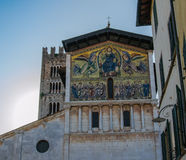 Mosaic facade on Lucca Royalty Free Stock Images