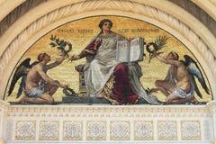 Mosaic in the Famedio of Milan Stock Image