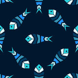 Mosaic fish vector seamless pattern. Fish mosaic vector seamless pattern. The theme of the sea, aquarium, sea food and fishing Stock Photo