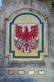 Mosaic of the flag of the autonomous province of Bolzano. Mosaic depicting the flag of the autonomous province of Bolzano Royalty Free Stock Photos