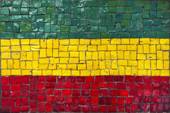 Mosaic flag of Bolivia Stock Photo
