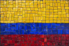 Mosaic flag of Colombia Stock Images