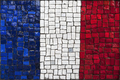 Mosaic flag of France Stock Photography