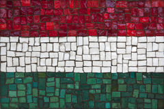 Mosaic flag of Hungary Stock Photography