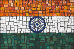 Mosaic flag of India Royalty Free Stock Photos