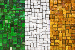 Mosaic flag of Irish Royalty Free Stock Image