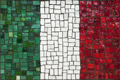 Mosaic flag of Italy Stock Photo