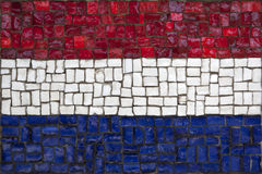 Mosaic flag of Netherland Stock Photos