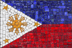 Mosaic flag of Philippines Royalty Free Stock Photo