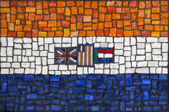 Mosaic flag of South Africa Stock Image