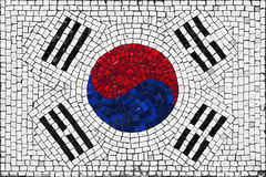 Mosaic flag of South Korea Royalty Free Stock Photos