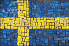 Mosaic flag of Sweden Stock Photography