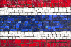 Mosaic flag of Thailand Stock Photos