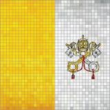 Mosaic flag of Vatican City. Illustration, Flag of the Holy See in mosaic, Flag of the Papal States, Abstract grunge mosaic vector vector illustration
