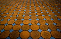 Mosaic on floor Stock Photos