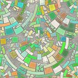 Mosaic floor. Abstract geometric background. Natural pattern stock illustration