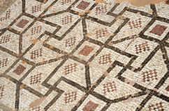 Mosaic floor with ancient geometrical ornament,Paphos,Cyprus Stock Photos