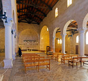 Mosaic Floor in Church of Multiplication, Tabgha Stock Photo