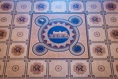 Mosaic floor of Dunedin Railway Station, New Zealand Royalty Free Stock Photos