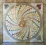 Mosaic floor with Medusa's head found in Zea, Piraeus, 2nd century AD. Detail of a mosaic floor found in Zea, Piraeus, made in the 2nd century AD, using royalty free stock image