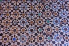 Mosaic floor pattern design architecture geometric. Mosaic floor pattern design architecture islamic art flower Stock Photos