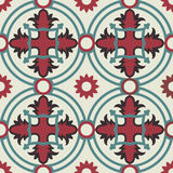 Mosaic floor pattern with vintage decoration Royalty Free Stock Photography