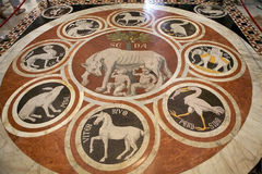 Mosaic floor in the Siena Cathedral, Siena, Tuscany, italy Stock Photography