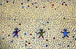 Mosaic Floor Tile. Mosaic tile on patio floor Stock Images