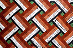 Mosaic Floor Tile Pattern. Close Up Lattice style design floor tiles Stock Images
