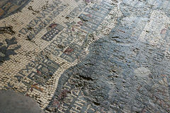 Mosaic floor tiles in Jordan stock photography