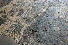 Mosaic floor tiles in Jordan Stock Photography