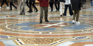 Mosaic floor of the Vittorio Emanuele Gallery in Milan Royalty Free Stock Photography