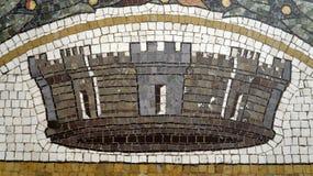 Mosaic detail on floor Vittorio Emanuele II Gallery. Milan. Italy royalty free stock photography