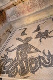 Mosaic Flooring. On the floor of a bath house in Herculaneum royalty free stock photo