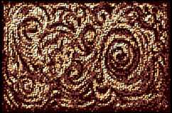 Mosaic floral background Royalty Free Stock Photo