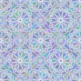 Mosaic floral seemless pattern Royalty Free Stock Images