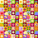 Mosaic flower pattern Royalty Free Stock Image