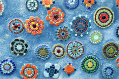 Mosaic flowered background. Representing multi-colored flower pattern Royalty Free Stock Photos