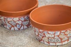 Decorative mosaic flowerpot. Image of decorative mosaic flowerpot royalty free stock photography