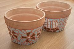 Decorative mosaic flowerpot. Image of decorative mosaic flowerpot stock images